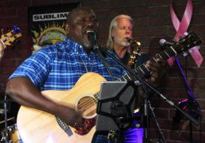 Kevin Jaxon playing at Pennington's Tuesday evening. Jillian Danielson/RiverScene