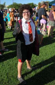 """Avery Carpita dresses as """"Harry Potter"""" Saturday afternoon during the Fall Fun Fair. Jillian Danielson/RiverScene"""