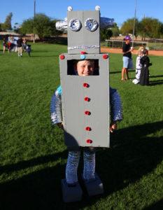 Andrew Koschel dresses as a robot Saturday afternoon at the Fall Fun Fair. Jillian Danielson/RiverScene