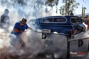 A burn out contest was held Saturday at the Run to the Sun car show. Jillian Danielson/RiverScene