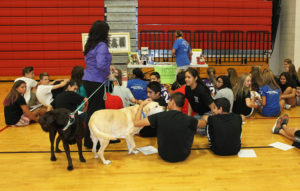Representatives from W.A.H.S speak to Thunderbolt 8th grade students during Career Day. Jillian Danielson/RiverScene