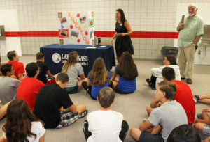 A representative from LHUSD speaks to Thunderbolt 8th grade students during Career Day. Jillian Danielson/RiverScene