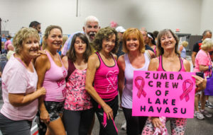 Zumba Crew pose for a photo Saturday morning at the Community Health Fair. Rick Powell/RiverScene