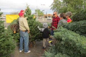 Marine Corps League Detachment 757's fresh-cut Christmas tree sale kicked off Sunday at the CVS Store & Pharmacy parking lot. Jayne Hanson/RiverScene