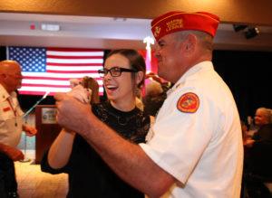 Chris Gall dances with his daughter, Mandi Gall at the Marine Corps Ball. Jillian Danielson/RiverScene