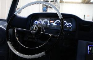 The dashboard of Laitinen's remodeled truck. Jillian Danielson/RiverScene