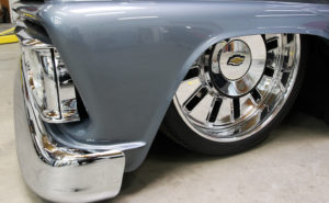The front tires of Laitinen's remodeled truck. Jillian Danielson/RiverScene