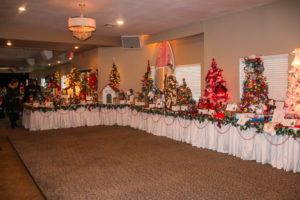 Trees sit on display that were raffled off Sunday afternoon. Rick Powell/RiverScene