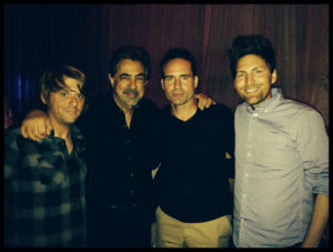 Michael Klooster, Joe Mantegna, Jason Patric, Jesse Pruett at the after party of the premiere of The Prince. photo courtesy Jesse Pruett
