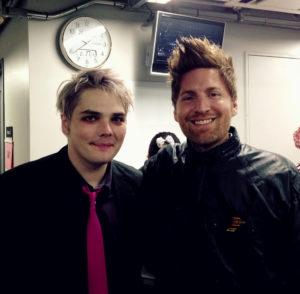Jesse Pruett and Gerard Way backstage in Tokyo Japan. photo Jesse Pruett