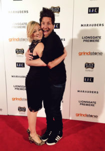 """Jesse and Valerie at the Premiere of """"Marauders"""" at the Chinese Theater. photo courtesy Jesse Pruett"""