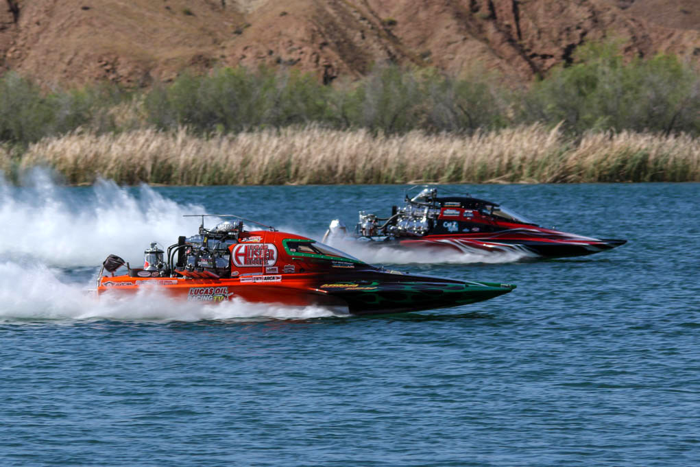 Lucas Oil Drag Boat Racing Series - Colorado River Challenge, began Friday and continues today @ Blue Water Resort and Casino, Parker, AZ. Ken Gallagher/RiverScene