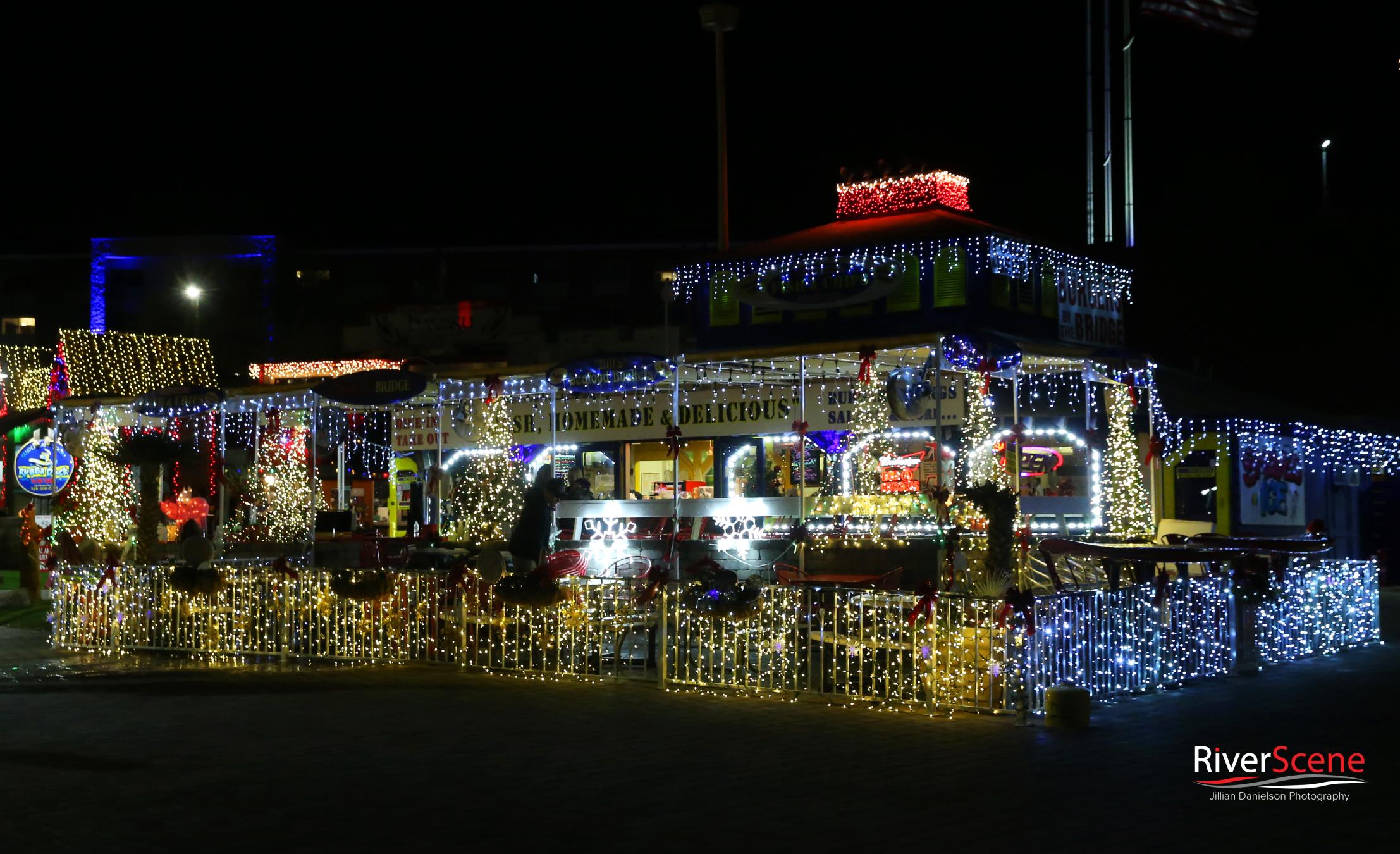 English Village Lake Havasu lights