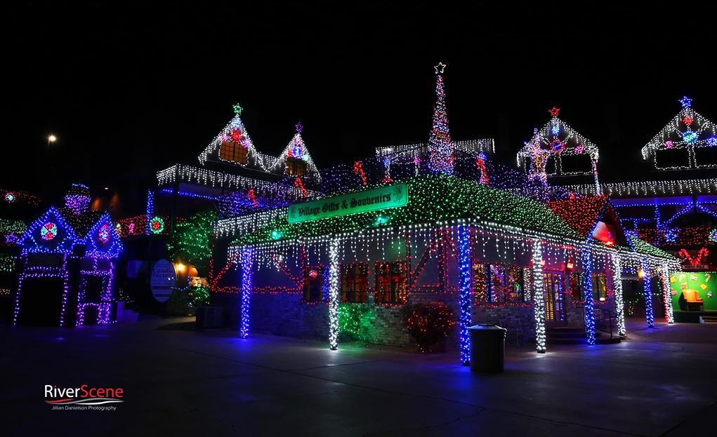 English Village Lake Havasu Christmas Lights 2018