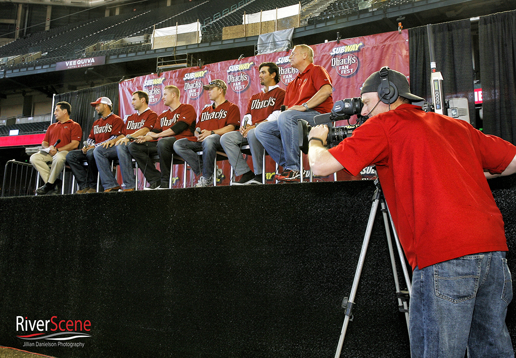 2014 Dbacks players do a question and answer with fans during Fan Fest. Jillian Danielson/RiverScene