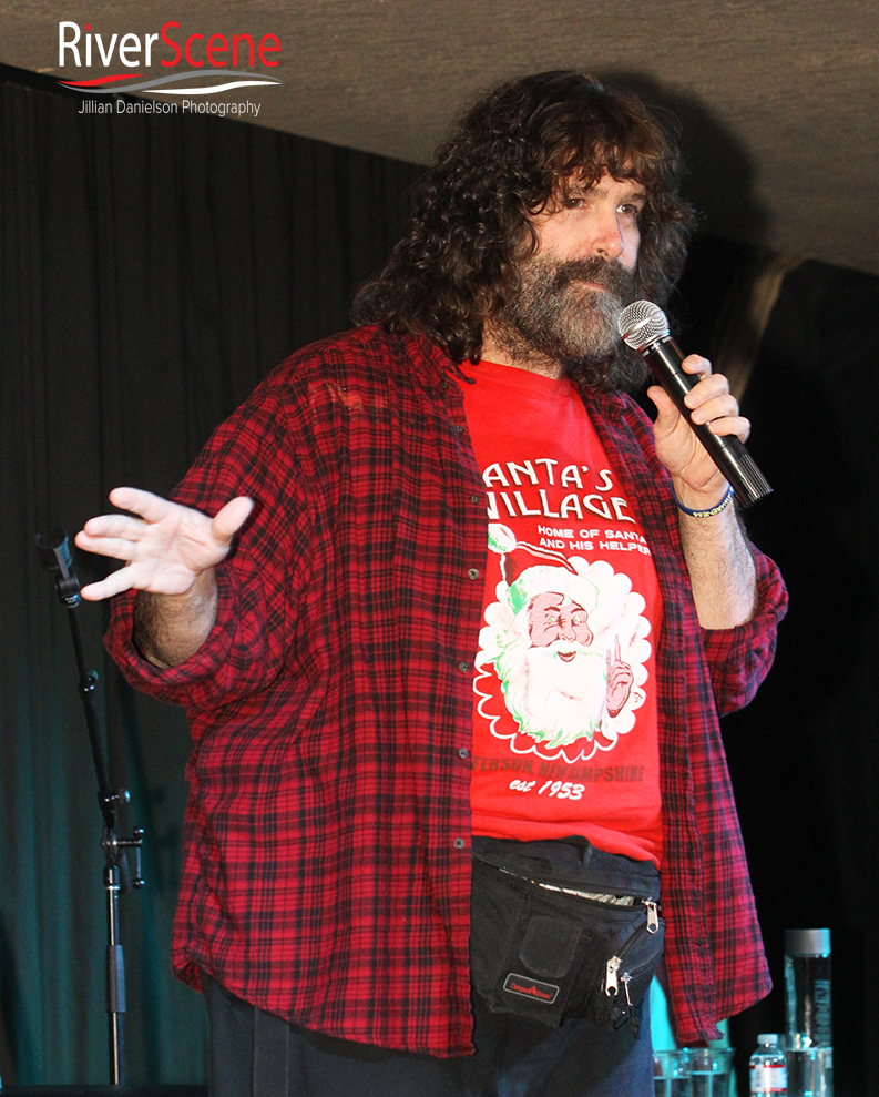 WWE wrestler Mick Foley performs at comedy act sponsored by Pennington's Pub  Saturday evening at the London Bridge Resort.