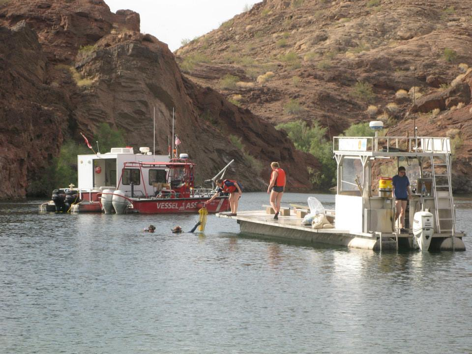 Divers cleaning up Copper Canyon in cooperation with BLM and State Parks. Nathan Adler/RiverScene