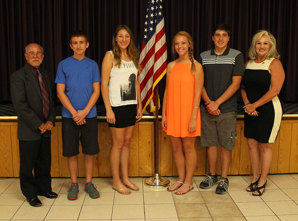 Elks Lodge #2399 Honors Students of the Month