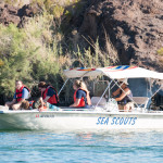 Sea Scouts enter Copper Canyon to prepare for trash cleanup. Nathan Adler/RiverScene