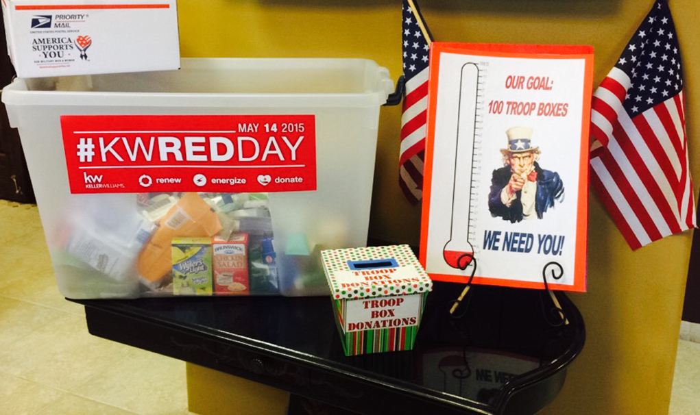 Keller Williams Collects Items for the Troops