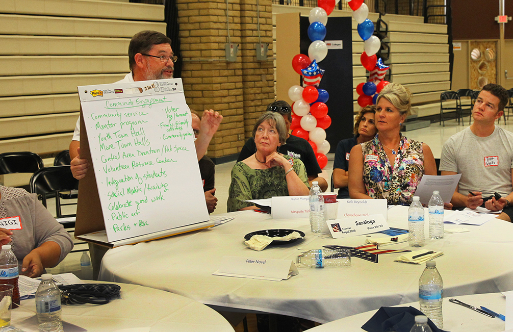 Town Hall Meeting Attendees Focused On Economic And Community Improvement