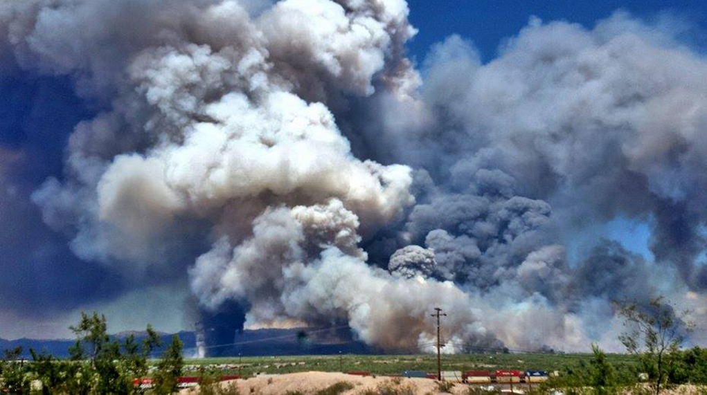 Four Fire Departments Respond To Fire In Topock