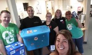 Donations are dropped off at Oro Grande School by Keller Williams Team Friday morning. Submitted photo Cindy Dionne