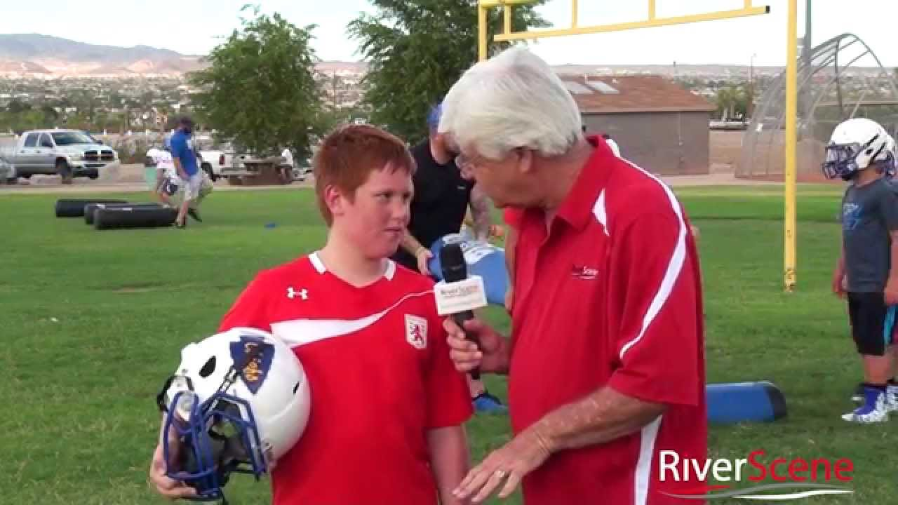 Pop Warner Football and Cheerleaders First Practice