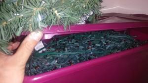 Lights that Alex Dennon uses for his Christmas display. Jillian Danielson/RiverScene