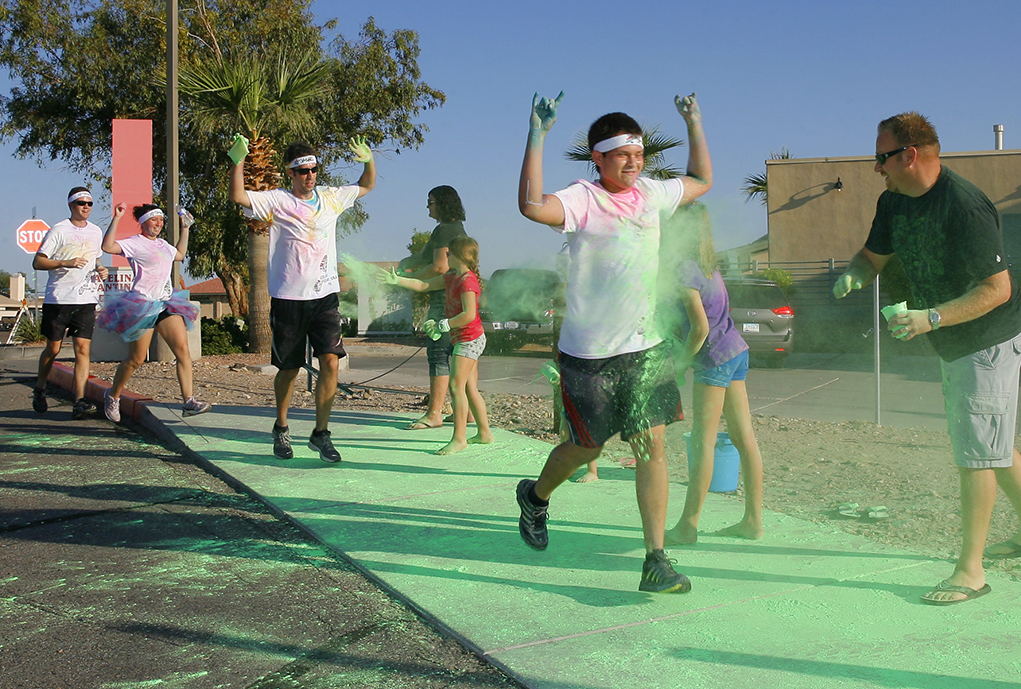 """""""Color Your Sole """" 5K Returns To Havasu This Weekend."""