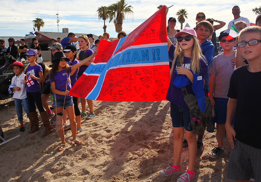 Students Mob IJSBA Thursday to Tour the World