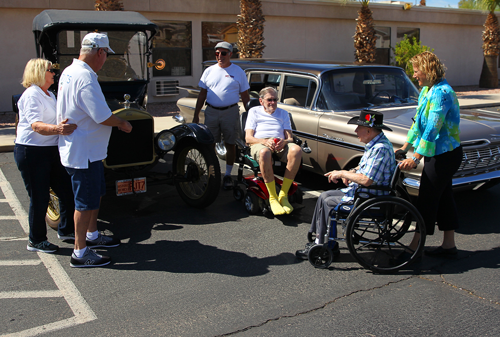 Nursing Center Residents Treated To Car Show
