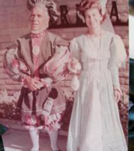 Edward and Evelyn Hurdel dress for the dedication of the London Bridge in 1971. photo courtesy Justin Osborne Hurdel