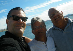 Justin, his uncle Dayne and uncle Skip in January 2012. photo courtesy Justin Osborne Hurdel