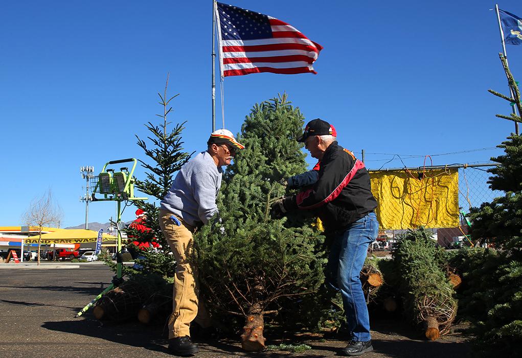 Marine Corps League Sets Up Christmas Tree Lot
