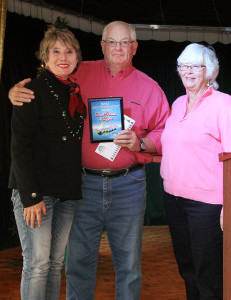 Don McPherson took home the Best Service Club Organization Award for the sailboats. Jillian Danielson/RiverScene