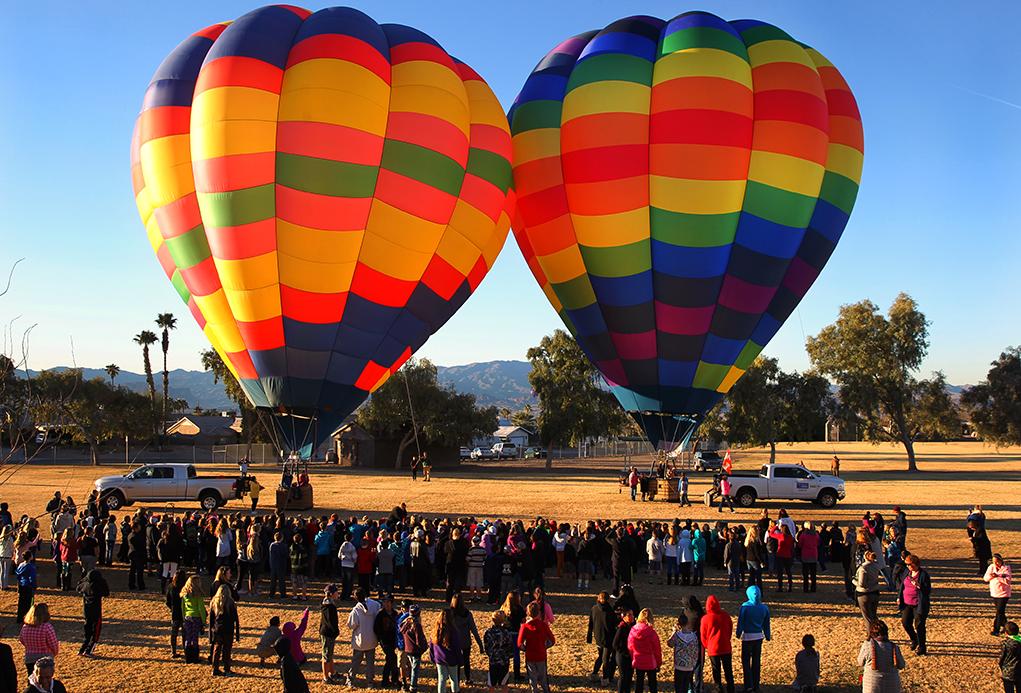 Lake Havasu Schoolchildren Awed By Hot Air Balloons