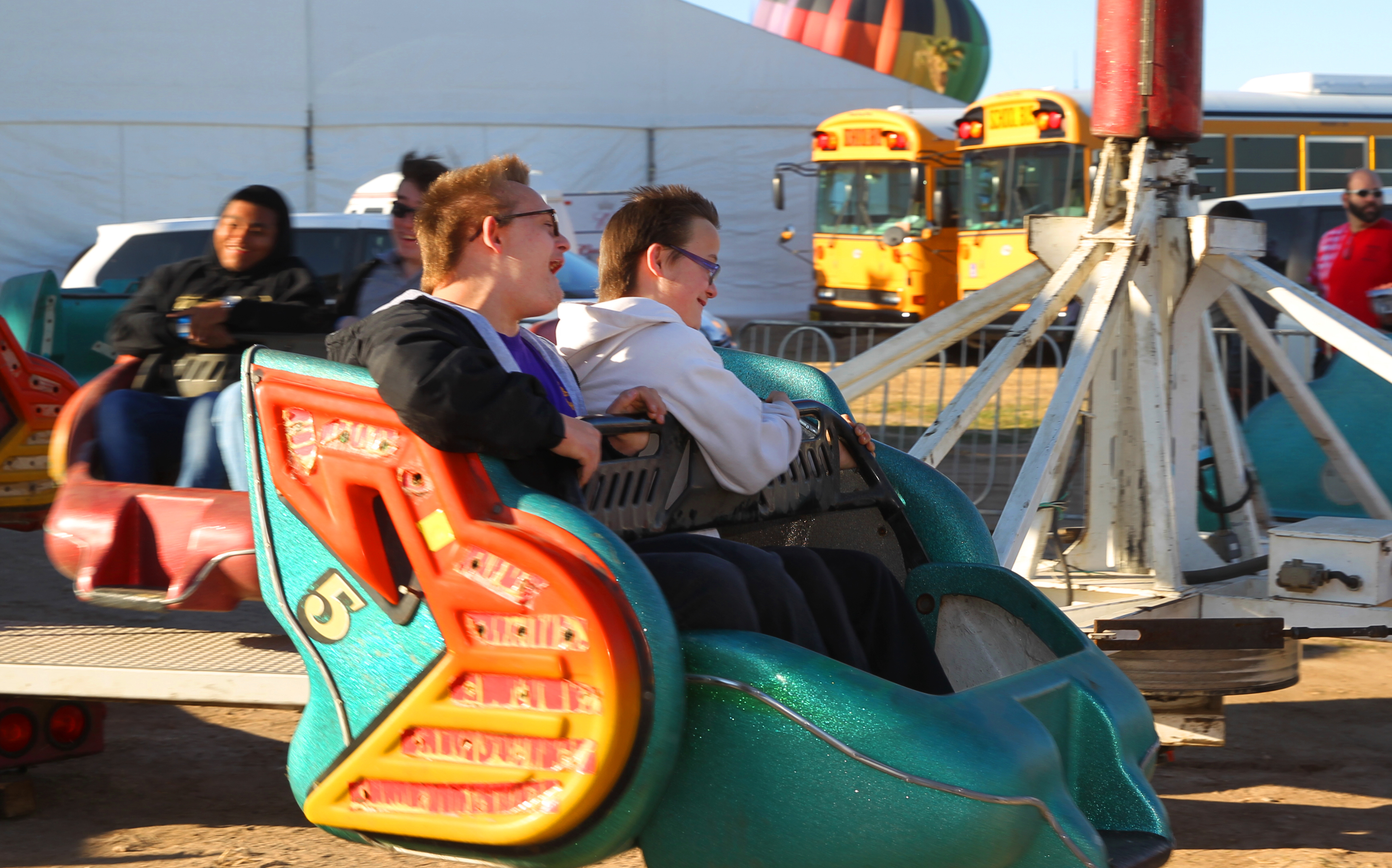 Special Pairing At Balloon Fest, Students Enjoy Carnival Day