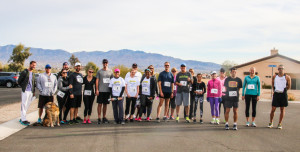 Runners line up to participate in the 5k Saturday morning. Rick Powell/RiverScene