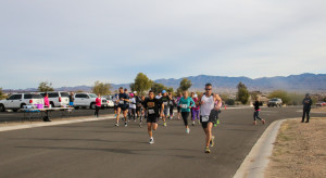 Participants from Sandie's Pass 5K take off from the start line Saturday morning. Rick Powell/RiverScene