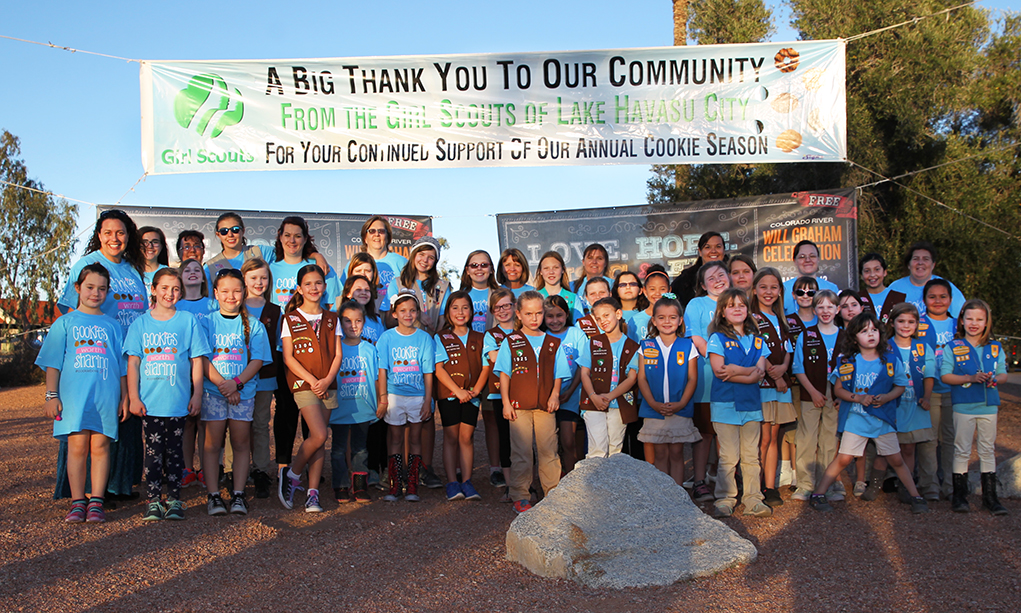 Girls Scouts Thank Lake Havasu For Support
