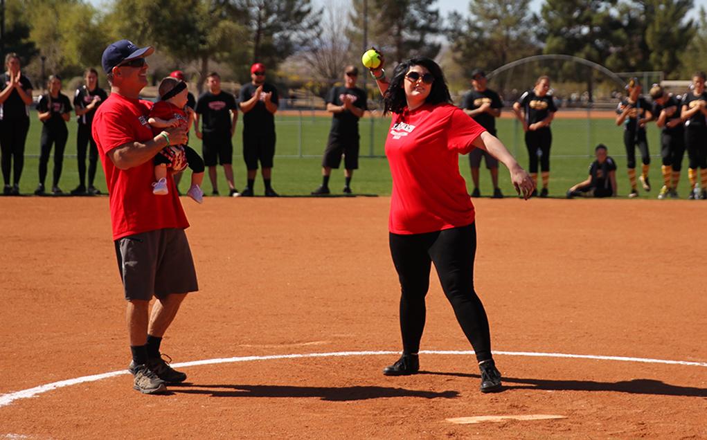 Havasu Girls ASA Softball Honors Linda Funk During Opening Ceremonies
