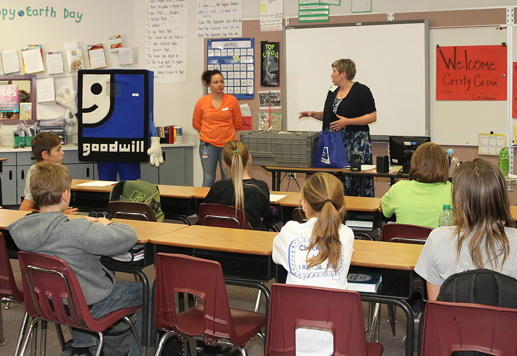 Students Learn Lessons On Recycling From Goodwill