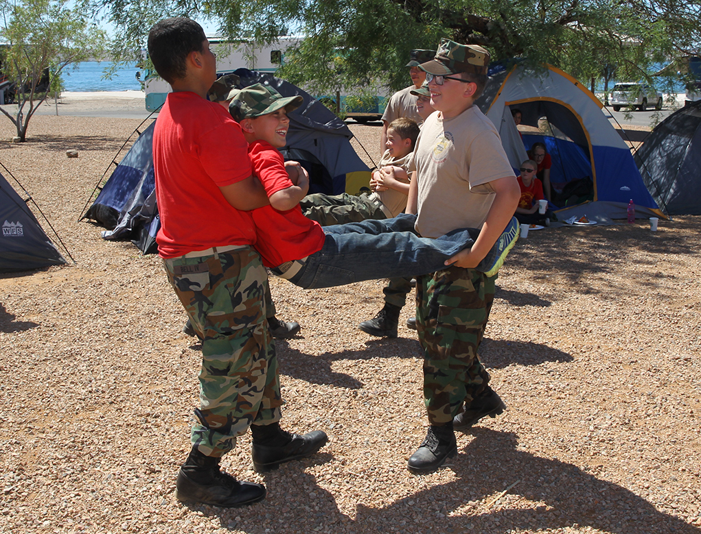 Young Marines Hold Recruit Encampment