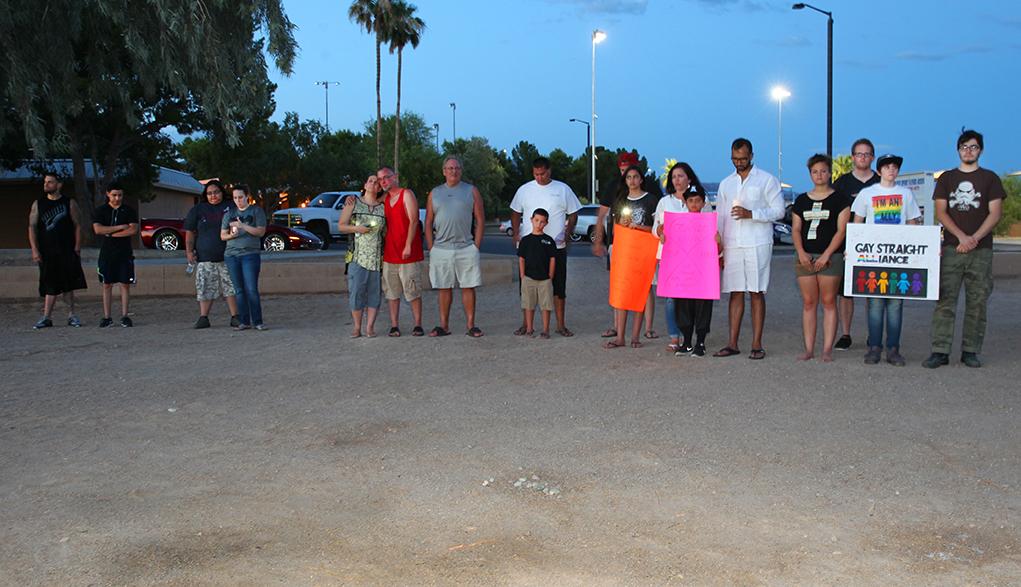Lake Havasu Residents Hold Candle Light Vigil For Orlando Shooting Victims
