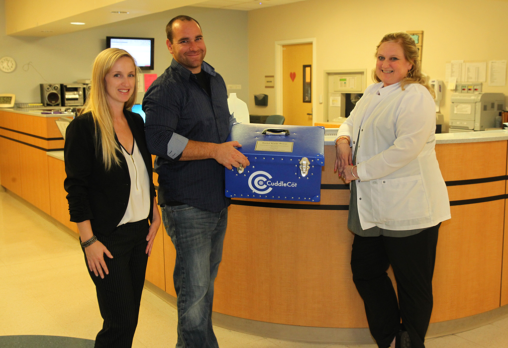 Rae Of Hope Donates A Cuddle Cot To HRMC