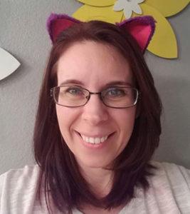 Amber Vanderjagt wears cat ears in support of #standuptobulliesrightmeow. photo courtesy Amber Vanderjagt