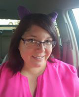 Arianne Stacy wears her cat ears in support of Raeanna. photo courtesy Arianne Stacey