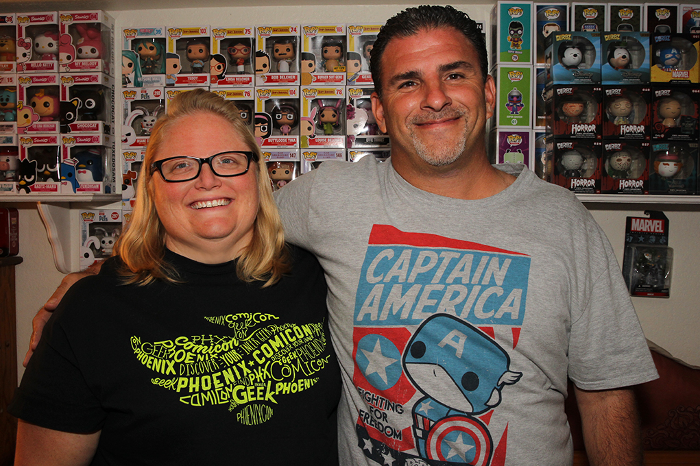 SUPER FANS: Angela and David Levy