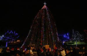A lighting of the Christmas tree is held every December in Wheeler Park. Jillian Danielson/RiverScene